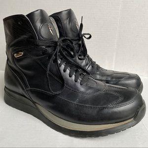 Cesare Paciotti Leather Hi Top Sneaker Boots